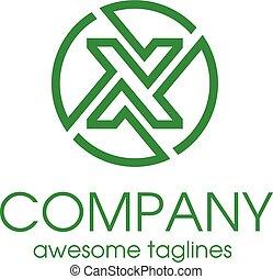 Letter X circle Simple and elegant Alphabetical Logo Design...