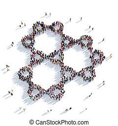 molecule people 3D rendering