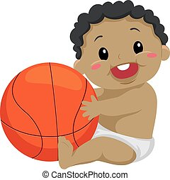 Black Kid Playing the Ball