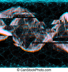 anaglyph glitch effect hologram - creative anaglyph glitch...