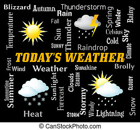 Todays Weather Represents Meteorological Conditions And Done...