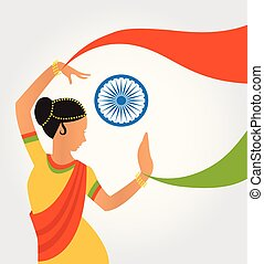 illustration of colourful culture  India with different form  classical dance
