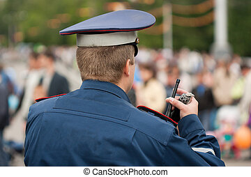 Police officer - Crime law security service police officer...