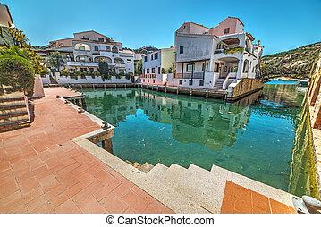 Poltu Quatu on a clear day, Sardinia