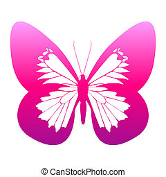 color butterfly,isolated on a white