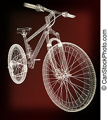 bicycle as a 3d wire frame object isolated 3D illustration...