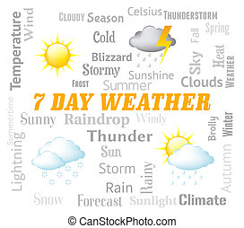 Seven Day Weather Represents Meteorological Conditions And...