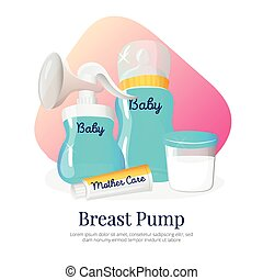 Vector goods for expression of breast milk Newborn...