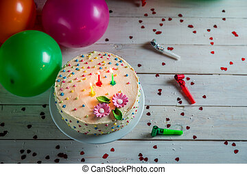 Time to blow out the candles from birthday cake