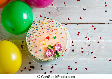 Time to blow out the candles in birthday party
