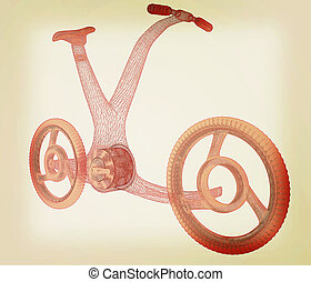 3d modern bike concept 3D illustration Vintage style