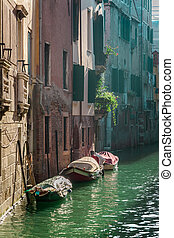 View of a canal in Venice
