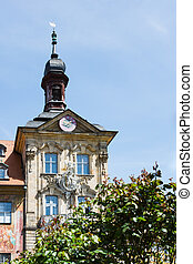 Historic town hall of Bamberg - Tower of the historic town...