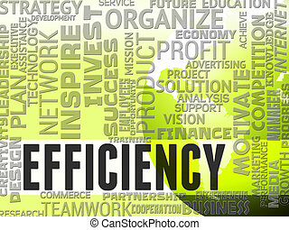 Efficiency Words Indicates Efficacy Productive And...