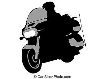 Biker whit motor