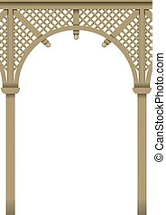 Wood delicate arch - Openwork arch Wooden pergolas or...