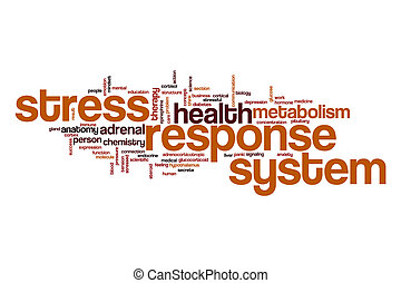 Stress response system word cloud concept - Stress response...
