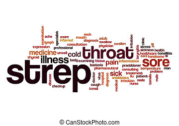 Strep word cloud concept - Strep word cloud