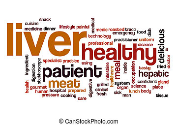 Liver word cloud concept - Liver word cloud