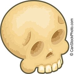 Isometric Skull Icon Symbol Isolated Cartoon 3d Design...