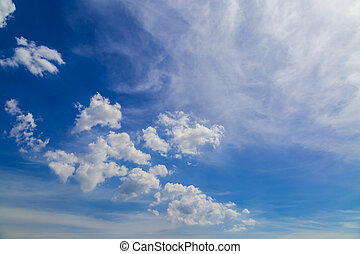 Sky with clouds on the noon in summer season nature...