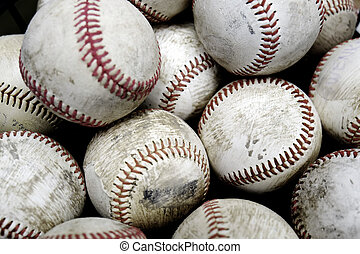 Baseballs Sports Pile Past Time American Fun - Pile and...