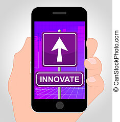 Innovate Online Represents Mobile Phone And Idea - Innovate...