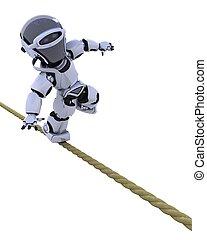 robot, stretto, corda