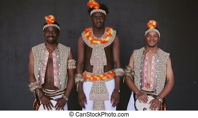 African tribe smiles broadly