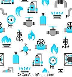 Natural gas production, injection and storage. Industrial...