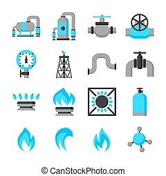 Natural gas production, injection and storage Set of objects...