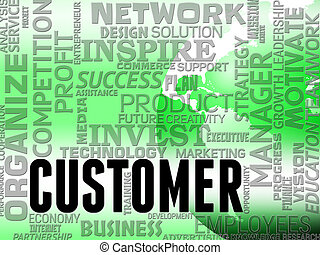 Customer Words Represents Buyers Consumer And Shopper -...