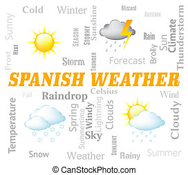 Spanish Weather Represents Meteorological Conditions And...