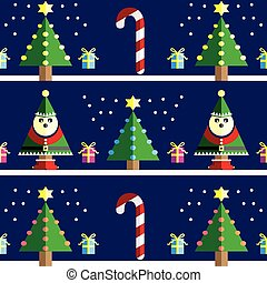 Christmas Seamless pattern with elf