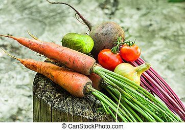 muitos, legumes, fim