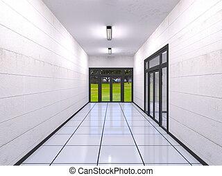 Corridor - 3D CG rendering of corridor
