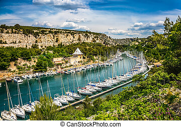 Calanque National Park - small fjords between Marseille and...
