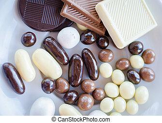 Traditional Turkey candies at id-al-fitr the end of Ramadan.