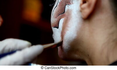 Work with face art