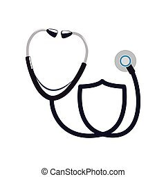 stethoscope instrument medical health care icon. Vector graphic