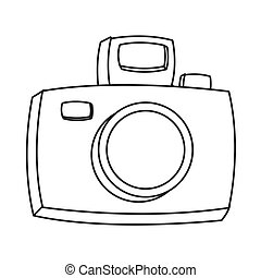 cartoon photographic camera icon