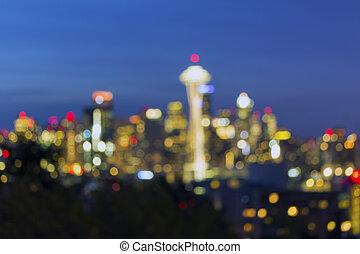 Seattle City Skyline Bokeh