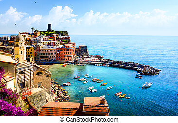 art beautiful old town of Liguria Italy Europe.