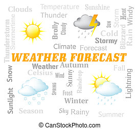 Weather Forecast Indicates Meteorological Conditions And...