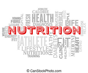 Nutrition Words Means Diets Diet And Sustenance - Nutrition...