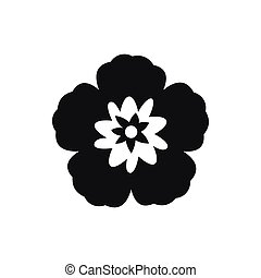 Rose of Sharon, korean flower icon, simple style - Rose of...