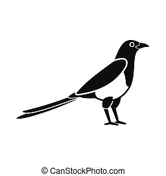 Bird magpie icon, simple style - Bird magpie icon in simple...
