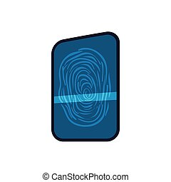 Fingerprint code security system protection icon Vector...