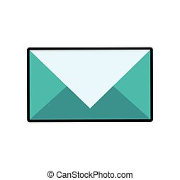 Envelope mail email message icon. Vector graphic
