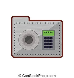 Strongbox security system protection icon. Vector graphic -...